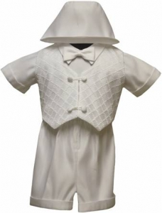 Boys Christening Suit (Short Set) 0212222-White
