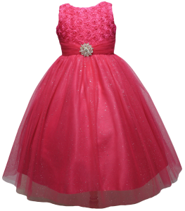 GIRLS CASUAL DRESSES  (0515716) FUSHIA