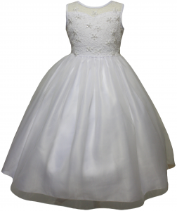 GIRLS COMMUNION DRESSES (0515723) WHITE