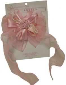 Single Clip on Hair Bow 0666083-Pink