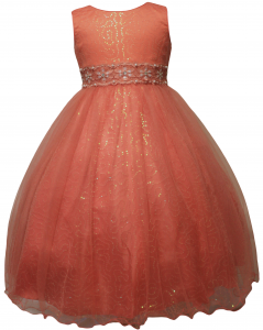 GIRLS FLOWER DRESSES (1242407) CORAL