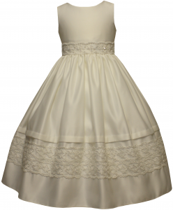 GIRLS FLOWER DRESSES (1242416) IVORY