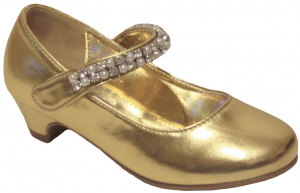 GIRLS DRESSY SHOES (2242463) GOLD METALLIC