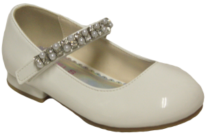 GIRLS DRESSY SHOES (2242468) WHITEPAT