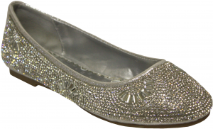 GIRLS FLAT SHOES (SILVER)