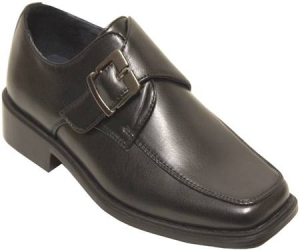 Boys Dressy Buckle Shoes-Black