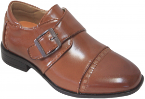 NEW BOYS DRESSY SHOES (2343458) COGNAC
