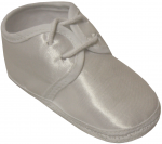 BABY BOYS SATIN SHOES PLAIN W/ LACE