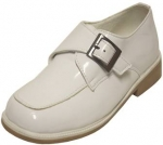 Dress Shoe w/ Velcro Buckle & Moc Toe