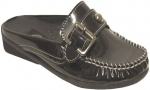 Girls Slippers w/ Buckle-(Black/Pat)