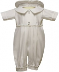 Boys Shanton Christening Suit w/o Jacket 0212670-1NJ- (White, Ivory)