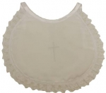 Girls Simple Lace Cross Bibs 0212152G-White