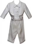 Boys Suit w/ Vest and Jacket 212174-White