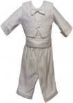 Boys Suit w/ Vest (No Jacket)-0212174NJ-White