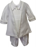 Boys Christening Jumper Suit w/ Design Jacket