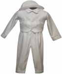 Boys Long Panty Suit w/ Two Cross Sets