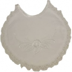 Girls Simple Cross Lace Bibs 0212186G-White