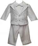 Boys Long Panty Suit w/ Jacket w/ Cross Sets