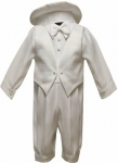 Boys Long Panty Christening Suit