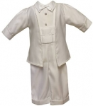 Boys Short Panty Christening Suit-W.White