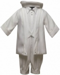 Boys Satin Christening Suit w/ Bow Tie 0212653-White