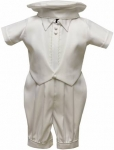 Boys Satin Christening Suit w/ Bow Tie-0212653NJ White