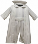 Boys Satin Christening Suit w/ Bow Tie