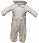 Boys Satin Christening Suit w/ Bow Tie (No Jacket)