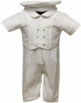 Boys Satin Silk Christening Suit (No Jacket)