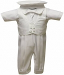 Boys Satin Christening Suit (No Jacket)