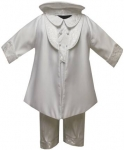 Boys Shanton Christening Suit w/ Brocaded Jacket