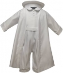 Boys Satin Christening Suit w/ Embroidery