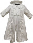 Boys Satin Christening w/ Pearls on Jaket