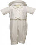 Boys Satin Christening Suit w/o Jacket