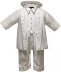 Boys Satin Christening Rinkle w/ Jacket