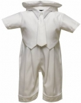 Boys Satin Christening Rinkle w/o Jacket