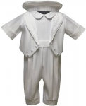 Boys Satin Christening Suit w/ Jacket