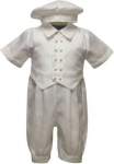 Boys Satin Christening Suit