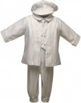 Boys Satin Vest Suit w/ Sequence Jacket