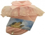 Girls Organza Socks w/ Satin Trimming 022104E-Pink