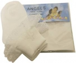 Girls Christening Sock w/ Lace 0221124-White