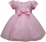 GIRLS CASUAL DRESSES (0232301-1) PINK