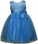 GIRLS CASUAL DRESSES W/ BOW (TURQ)