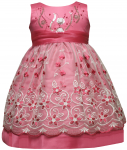 GIRLS CASUAL DRESSES FLOWERS (FUSHIA)