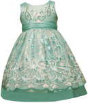 GIRLS CASUAL DRESSES FLOWERS (MINT)