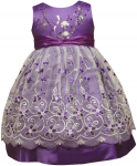 GIRLS CASUAL DRESSES FLOWERS (PURPLE)