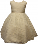 GIRLS DRESSES (CHAMPAGNE)
