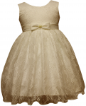 GIRLS CASUAL LACE  DRESSES (IVORY)