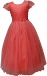 GIRLS CASUAL DRESSES  (0232319) CORAL
