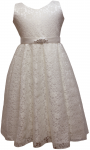 GIRLS CASUAL DRESSES  (0232321) IVORY